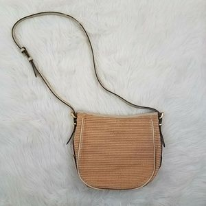 Teddie Convertible Straw Hobo Crossbody